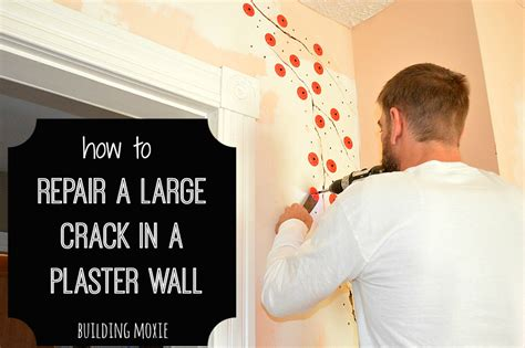 how to repair a large crack in plaster plaster walls