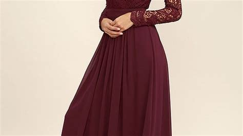 Marine Maroon Dress awaken my burgundy sleeve lace maxi dress length skirts lace maxi and crochet lace