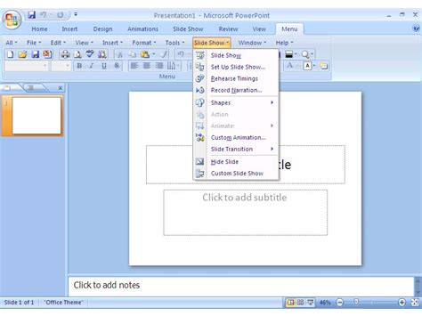 powerpoint design menu classic menu for office 2007 united addins