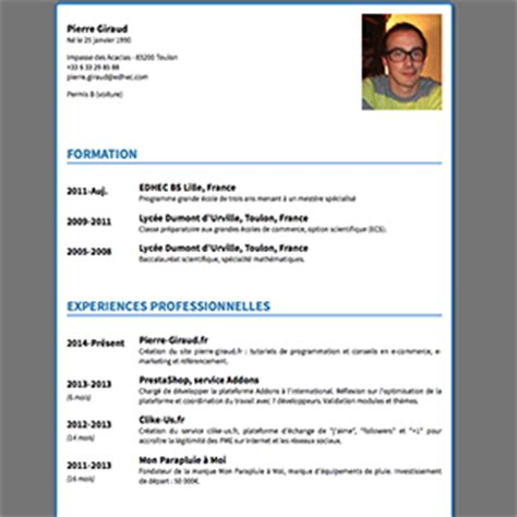 design cv using html exemple cv css cv anonyme