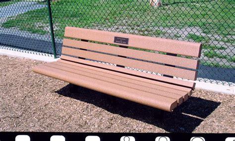 dumor bench custom plaques page 2 dumor site furnishings