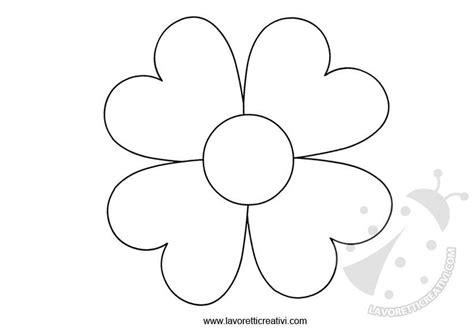 immagine fiore da colorare sagome fiori da ritagliare