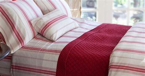 raspberry stripe bedding intriguinginteriors