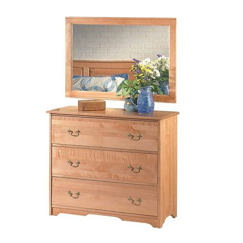 drawer chests light cherry stain maple 3 drawer dresser chest