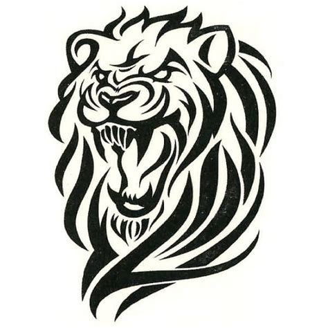 roaring lion tribal tattoo ideas and designs page 54