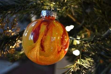 clear ornaments with paint inside christmas ideas