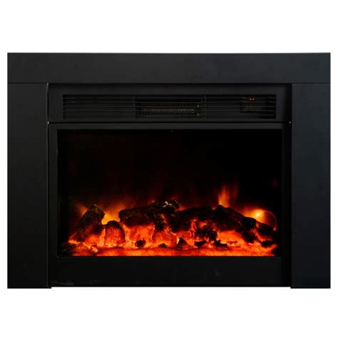 y decor uplifter 36 in recessed electric fireplace in