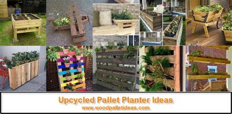 pallet upcycle ideas upcycled pallet planter ideas wood pallet ideas