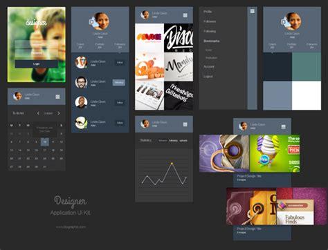 portfolio layout app designer portfolio app ui kit psd