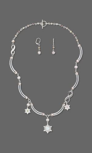 Earrings Curved Swarovski Ab Silver Rhodium Jewelry Design Single Strand Necklace And Earring Set