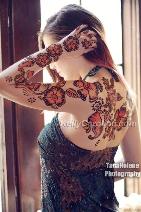 colorful henna tattoos 50 excellent henna tattoos for back