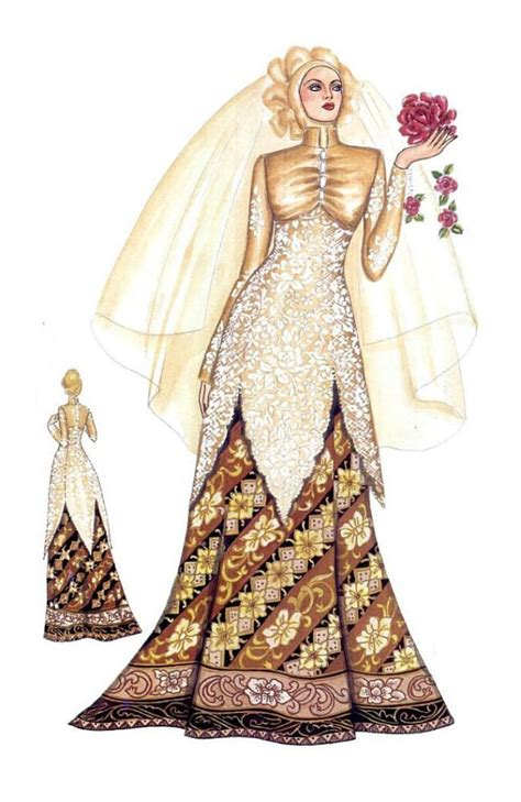 sketsa desain dress batik 111 best modern kebaya images on pinterest hijab dress