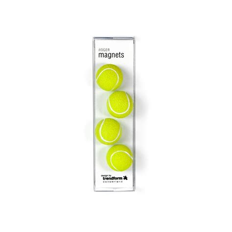 Assortment Of Four Magnets assorted popular shape office magnets tennis