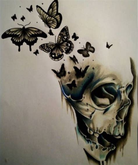 skull butterfly tattoo best 25 skull butterfly ideas on