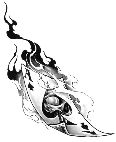 ace of spades tattoo design black and grey 3d ace of spade design by ian