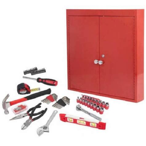 wall mounted tool cabinet wall mounted metal cabinet tool kit unit home garage 151