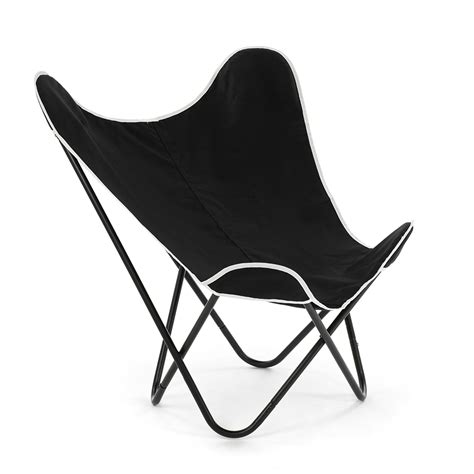 1 x butterfly chair w 2covers black white