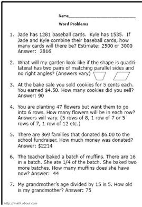 3rd Grade Math Word Problems Printable Worksheets by Math Problems Fractions Worksheets Kelpies