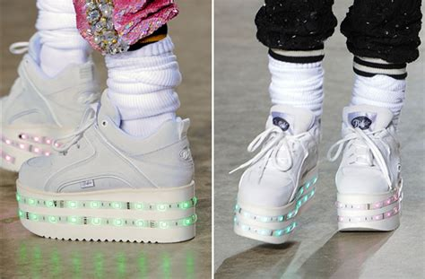 topshop light up sneakers ashish s light up platform sneakers are coming to a