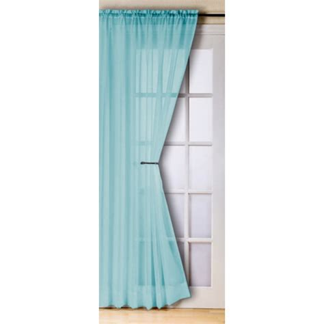 teal net curtains slot top voile panels pair finished in teal