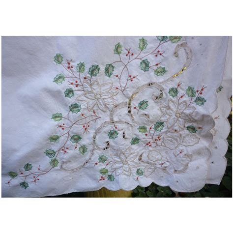 vintage christmas lenox holiday linens large oblong