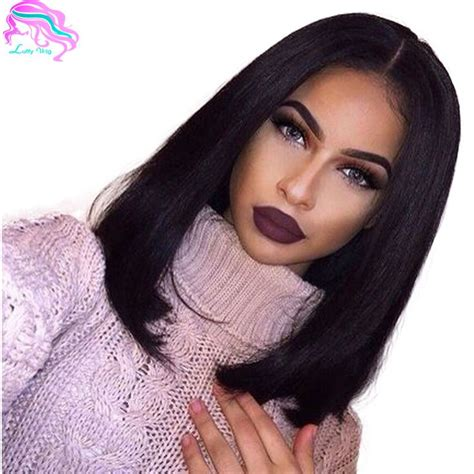 Pretty Bobs Hairstyle Hair Style Baby Hair Lace Wigs Human Hair | glueless bob cut brazilian lace front wigs with baby hair
