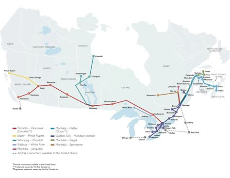 railway map canada the canadian traveller conversations on the