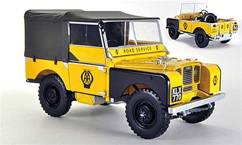 the road series 1 land rover series 1 miniature aa road service jaune 1948