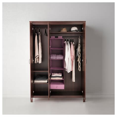 ikea brusali wardrobe brusali wardrobe with 3 doors brown 131x190 cm ikea