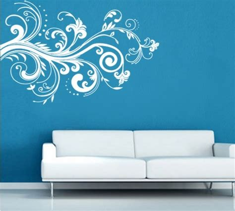 living room wall stickers white flower vine living room wall sticker decal