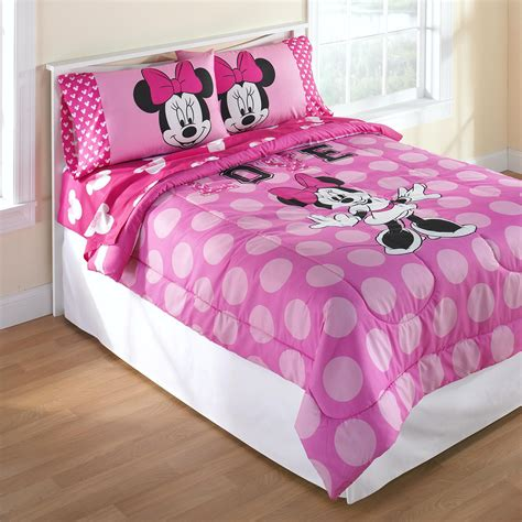 minnie mouse bedding full disney minnie mouse reversible comforter set home bed bath bedding comforters