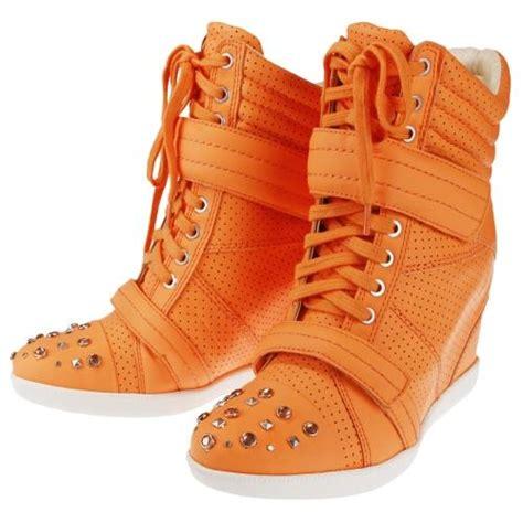 Orange Wedges By C Boutique boutique 9 s nevan fashion sneakers wedge orange