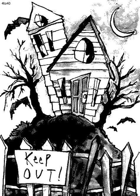 doodle god haunted house coloring pages haunted house coloring page