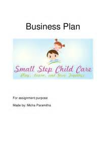 Business Plan Template For Daycare Center Small Step Child Care Business Plan