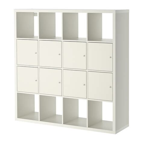 kallax shelving unit with 8 inserts white ikea