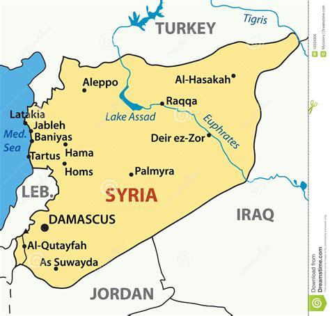 Etnique Syari illustration map of syria vector royalty free stock