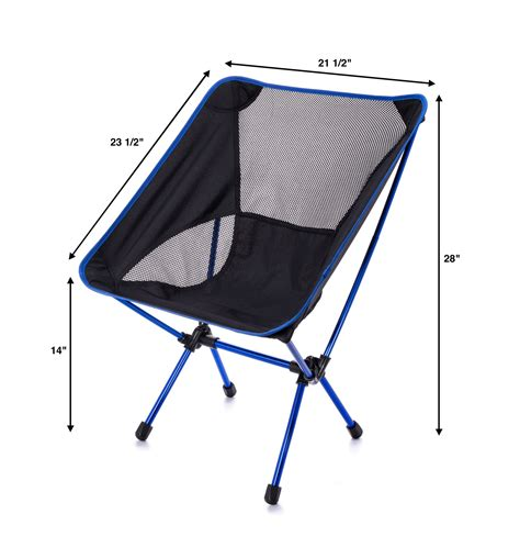 Compact Folding Chair by Trekultra Portable Compact Lightweight C Chair With Bag