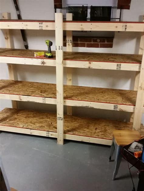 build easy  standing shelving unit  basement
