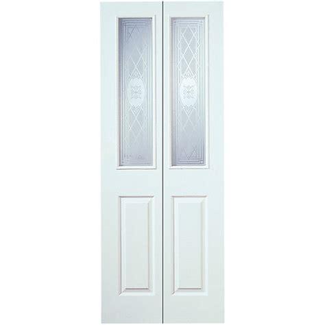 Wickes Garage Doors Fitting by Wickes Stirling Bi Fold Door White Grained Glazed