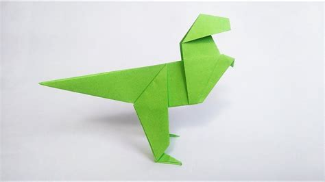 how to make origami dinosaur doovi