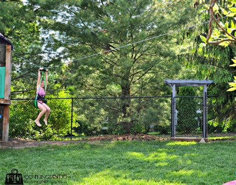 backyard zip line installation pin by shelly 100things2do on 100things2do pinterest