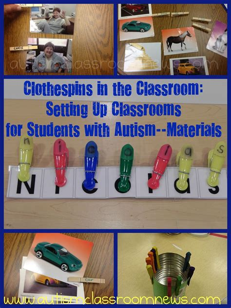 Clothespins In The Classroom Freebie Setting Up Autism Ideas