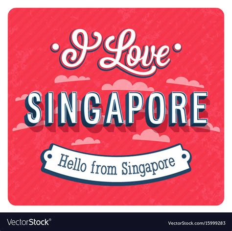 print birthday cards singapore vintage greeting card from singapore royalty free vector