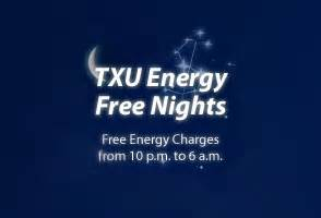 Txu Energy Plans Free Nights by Save More With Txu Energy Free Nights Txu Energy