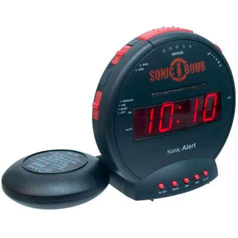 sonic bomb alarm clock and bed shaker free shipping