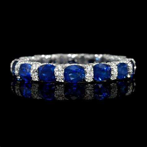 Wedding Bands With Sapphires And Diamonds by 72ct And Blue Sapphire 18k White Gold Eternity