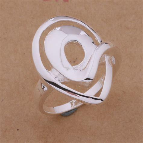 promotional sales silver plated shape ring