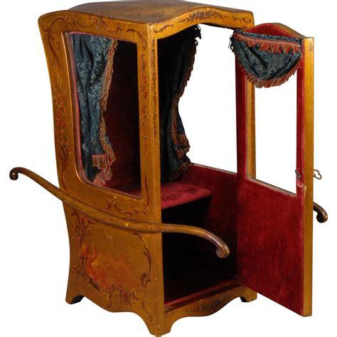 chaise a porteur chaise 224 porteur sedan chair for fashion dolls from