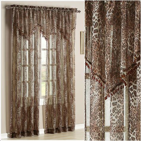curtains print leopard print sheer curtains home design ideas curtain