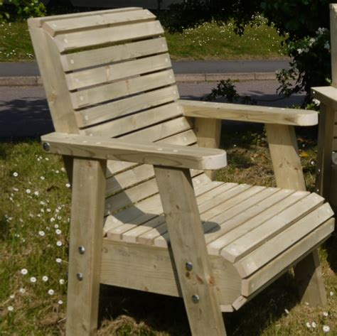 Wooden Outdoor Furniture Bespoke Chunky Roll Top Garden Chairs Garden Furniture